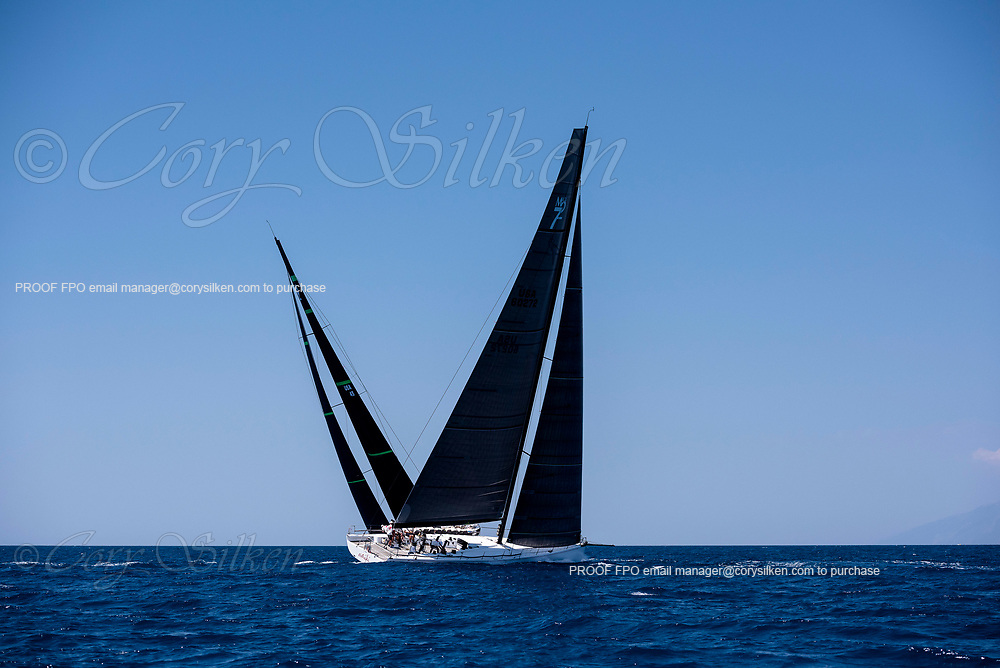 Evniki sailing in the  Corfu Challenge, day two.