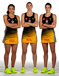 Tamsin Moala, Rachel Dunn and Katie Harris of Wasps Netball - Mandatory by-line: Robbie Stephenson/JMP - 02/11/2019 - NETBALL - Ricoh Arena - Coventry, England - Wasps Netball Headshots