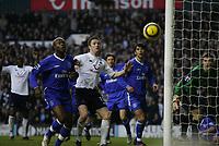 near miss for Robbie Keane-Tottenham v Chelsea-Barclays Premiership-Saturday-15 January 2005-COLORSPORT / KIERAN GALVIN