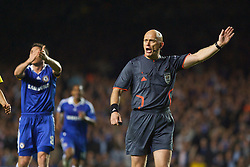 LONDON, ENGLAND - Wednesday, May 6, 2009: Norwegian referee Tom Henning Ovrebo as Chelsea's Frank Lampard appeals for hand-ball and a penalty against Barcelona during the UEFA Champions League Semi-Final 2nd Leg match at Stamford Bridge. (Photo by Carlo Baroncini/Propaganda)