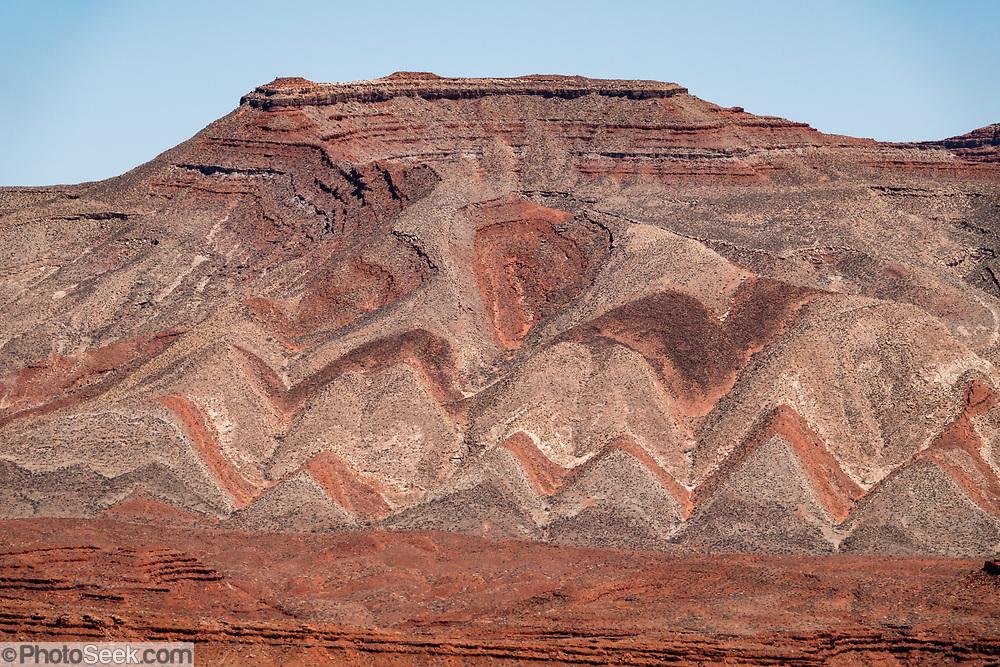 The Raplee Anticline (Lime Ridge), along San Juan River, Mexican Hat, Utah, USA.