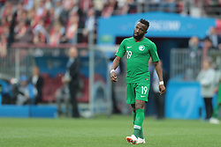 June 14, 2018 - Moscow, Russia - Forward Fahad Almuwallad of Saudi Arabia National team during Group A match between Russia and Saudi Arabia at the 2018 soccer World Cup at Luzhniki stadium in Moscow, Russia, Tuesday, June 14, 2018. (Credit Image: © Anatolij Medved/NurPhoto via ZUMA Press)