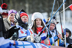 February 8, 2019 - Calgary, Alberta, Canada - Fans from Russia during Men's Relay of 7 BMW IBU World Cup Biathlon 2018-2019. Canmore, Canada, 08.02.2019 (Credit Image: © Russian Look via ZUMA Wire)