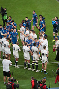 French players won the game and been greated by english players during the NatWest 6 Nations 2018 rugby union match between France and England on March 10, 2018 at Stade de France in Saint-Denis, France - Photo Stephane Allaman / ProSportsImages / DPPI