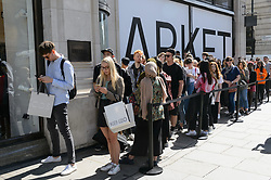 August 18, 2017 - London, London, UK - Licensed to London News Pictures. 18/08/2017. London, UK. The new opening H&M group's first Weekday clothing store in Regent Street. is situated next to a H&M store. Weekday is know for its offerings and minimalist styles, with 27 stores throughout Europe. The store is next to the H&M Arket lifestyle store. Photo credit: Ray Tang/LNP (Credit Image: © Ray Tang via ZUMA Press)