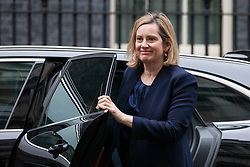 London, UK. 6th December, 2018. Amber Rudd MP, Secretary of State for Work and Pensions, arrives at 10 Downing Street for a special Cabinet meeting called to discuss the latest developments regarding Brexit.