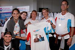 28-09-2019 NED: Finale Nationale Diabetes Challenge, Den Haag<br /> Diverse gezondheidscentra, huisartsenpraktijken en fysiotherapie praktijken zijn met ondersteuning van de BvdGF gestart met een lokale wandel challenge. De grote finale vondt plaats in de Uithof in Den Haag / Ze hebben het volbracht met een speciale herinnering