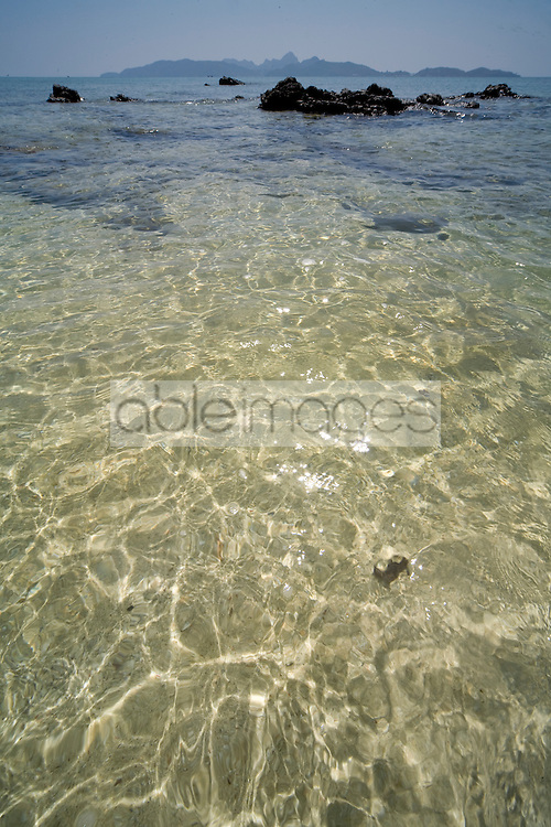 Close up of crystal clear sea water