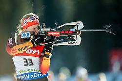 Franziska Hildebrand of Germany during Women 7.5 km Sprint at day 1 of IBU Biathlon World Cup 2014/2015 Pokljuka, on December 18, 2014 in Rudno polje, Pokljuka, Slovenia. Photo by Vid Ponikvar / Sportida