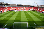 A general view inside the New York Stadium before the EFL Sky Bet League 1 match between Rotherham United and Bolton Wanderers at the AESSEAL New York Stadium, Rotherham, England on 14 September 2019.