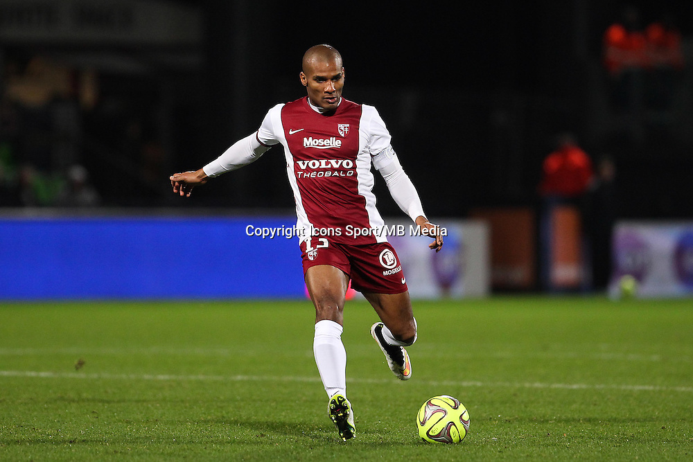 Florent MALOUDA - 20.12.2014 - Metz / Monaco - 17e journee Ligue 2<br />