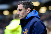 Shrewsbury Town manager Paul Hurst  during the EFL Sky Bet League 1 match between Milton Keynes Dons and Shrewsbury Town at stadium:mk, Milton Keynes, England on 25 February 2017. Photo by Dennis Goodwin.