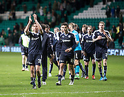 Dundee&rsquo;s Cammy Kerr leads the applause for the travelling support  - Celtic v Dundee - Ladbrokes Scottish Premiership at Dens Park<br /> <br />  - &copy; David Young - www.davidyoungphoto.co.uk - email: davidyoungphoto@gmail.com