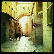 Jerusalem, Israel. September 20th 2011.A street of the historical old city...