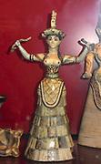 Minoan Snake Goddess from Knossos, Crete c. 1600 BCE  faïence