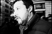 Leader of Lega Nord Party Matteo Salvini during demonstration 'Italia sovrana', (Italy Sovereign) on January 28, 2017 in Rome, Italy, Rome 28 January 2017 . Christian Mantuano / OneShot