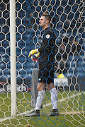 Bury Goalkeeper, Ian Lawlor looks a forlawn figure after Bury Defender, Chris Hussey own goal during the Sky Bet League 1 match between Bury and Walsall at Gigg Lane, Bury, England on 16 January 2016. Photo by Mark Pollitt.