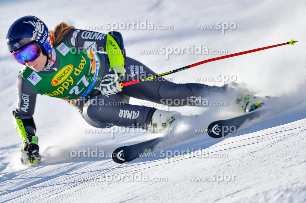 22.10.2016, Rettenbachferner, Soelden, AUT, FIS Weltcup Ski Alpin, Soelden, Riesenslalom, Damen, 1. Durchgang, im Bild Anne-Sophie Barthet (FRA) // Anne-Sophie Barthet of France in action during 1st run of ladies Giant Slalom of the FIS Ski Alpine Worldcup opening at the Rettenbachferner in Soelden, Austria on 2016/10/22. EXPA Pictures &copy; 2016, PhotoCredit: EXPA/ Nisse Schmid<br /> <br /> *****ATTENTION - OUT of SWE*****