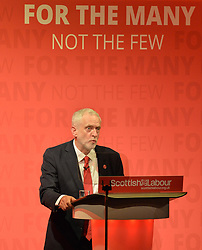 Labour leader Jeremy Corbyn hosted a campaign rally in Glasgow, where he delivered a speech attacking both the SNP and the Tories.<br /> <br /> © Dave Johnston/ EEm