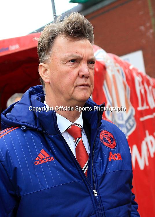 26th December 2015 - Barclays Premier League - Stoke City v Manchester United - Man Utd manager Louis van Gaal - Photo: Simon Stacpoole / Offside.