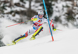 26.01.2020, Streif, Kitzbühel, AUT, FIS Weltcup Ski Alpin, Slalom, Herren, im Bild Daniel Yule (SUI) // Daniel Yule of Switzerland in action during his run in the men's Slalom of FIS Ski Alpine World Cup at the Streif in Kitzbühel, Austria on 2020/01/26. EXPA Pictures © 2020, PhotoCredit: EXPA/ Stefan Adelsberger