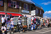 Souvenirs of The Stelvio Pass, Passo dello Stelvio, Stilfser Joch, on sale at Cima Coppi in Ortler Eastern Alps, Northern Italy