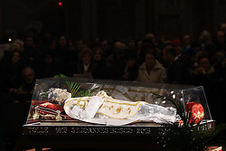 ESPOSIZIONE URNA DI DON GIOVANNI BOSCO A FERRARA<br /> FERRARA 18-02-2014<br /> FOTO FILIPPO RUBIN
