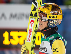06.01.2015, Paul Ausserleitner Schanze, Bischofshofen, AUT, FIS Ski Sprung Weltcup, 63. Vierschanzentournee, Finale, im Bild Noriaki Kasai (JPN, 2. Platz) // 2nd placed Noriaki Kasai of Japan reacts after his Final Jump of 63rd Four Hills Tournament of FIS Ski Jumping World Cup at the Paul Ausserleitner Schanze, Bischofshofen, Austria on 2015/01/06. EXPA Pictures © 2015, PhotoCredit: EXPA/ Johann Groder