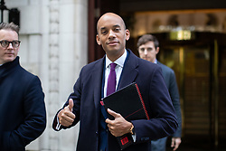 © Licensed to London News Pictures. 18/10/2019. London, UK. Liberal Democrat MP Chuka Umunna leaves media studios this morning. Yesterday, British Prime Minister Boris Johnson agreed a Brexit deal with the EU. Photo credit : Tom Nicholson/LNP