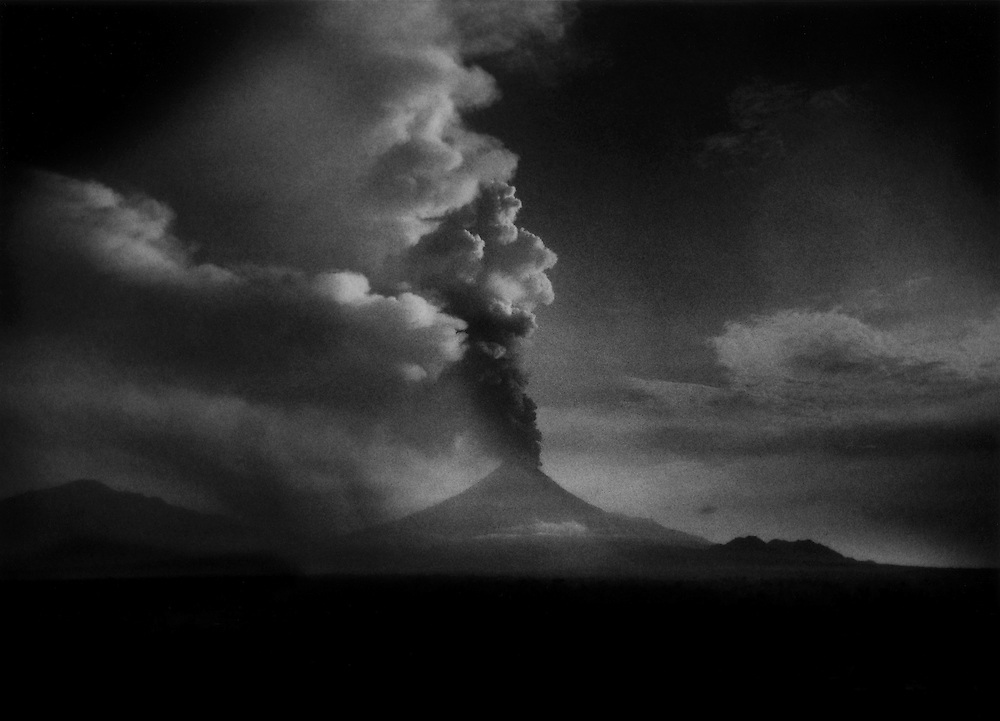 Merapi Volcano at dawn, Muntilan, Java, Indonesia.  Mt. Merapi's full-throated eruption, its worst in over 100 years.  The death toll from the volcanic eruption has risen to 324 people.