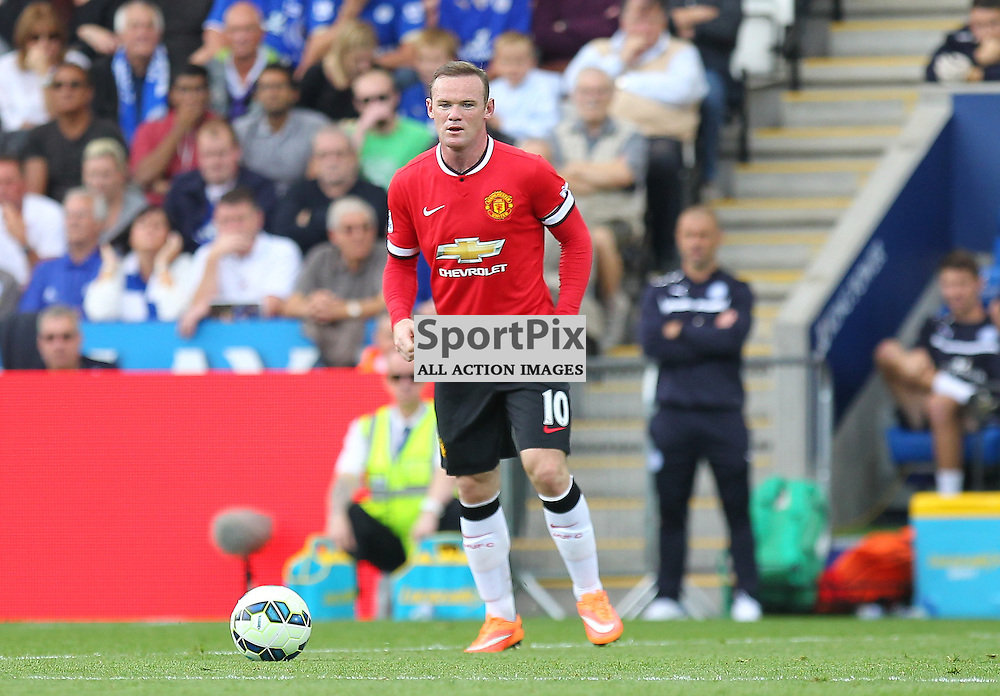 Manchester United's Wayne Rooney during the Barclays Premiership match between Leicester City FC and Manchester United FC, at the King Power Stadium, Leicester, 21st September 2014 © Phil Duncan | SportPix.org.uk