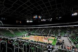 Arena Stozice during basketball match between KK Cedevita Olimpija and KK Zadar in Round #19 of ABA League 2019/20, on February 8, 2020 in Arena Stozice, Ljubljana, Slovenia. Photo by Vid Ponikvar / Sportida