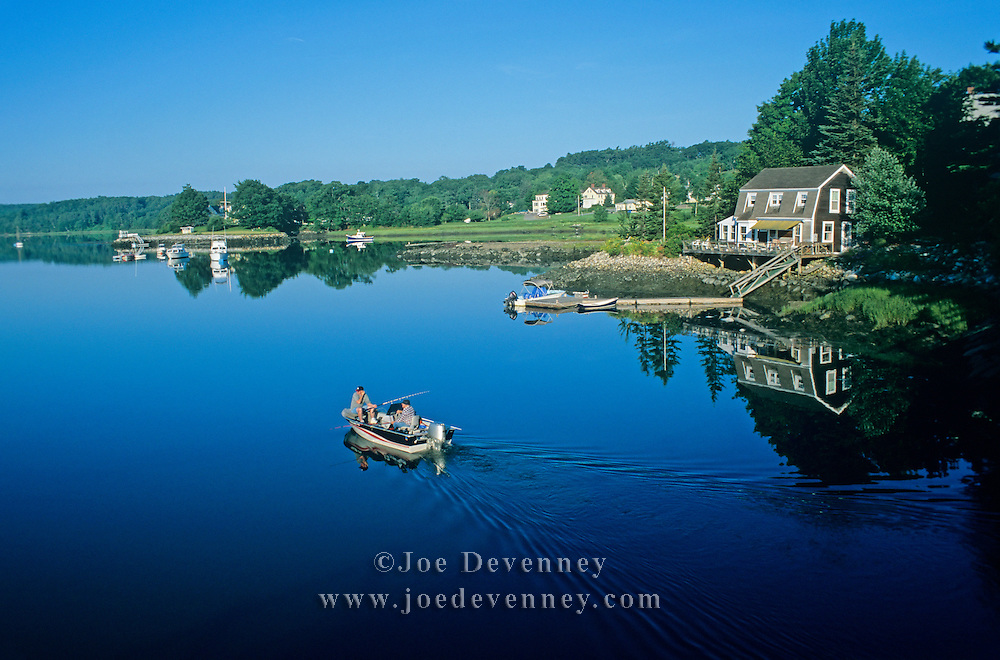 Boat in the Damariscotta River. Damariscotta, Maine