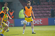 Wimbledon midfielder Anthony Wordsworth (40) warming up during the EFL Sky Bet League 1 match between Scunthorpe United and AFC Wimbledon at Glanford Park, Scunthorpe, England on 30 March 2019.