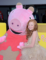 Harley Bird attends The Premiere of Peppa Pig: The Golden Boots at The Odeon, Leicester Square, London on Sunday 1 February 2015