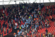 Crowd trouble between Millwall and Barnsley fans during the Sky Bet League 1 Play-off Final between Barnsley and Millwall at Wembley Stadium, London<br /> Picture by Richard Blaxall/Focus Images Ltd +44 7853 364624<br /> 29/05/2016