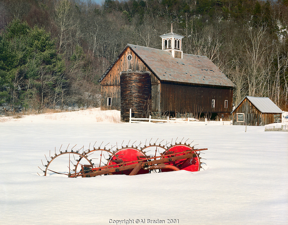 Farm and Rake near Connecticut River, River Rd., Putney, VT