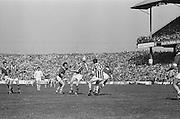 Two Kilkenny players close in to tackle Cork player during All Ireland Senior Hurling Final, Cork v Kilkenny in Croke Park on the 3rd September 1972. Kilkenny 3-24, Cork 5-11.