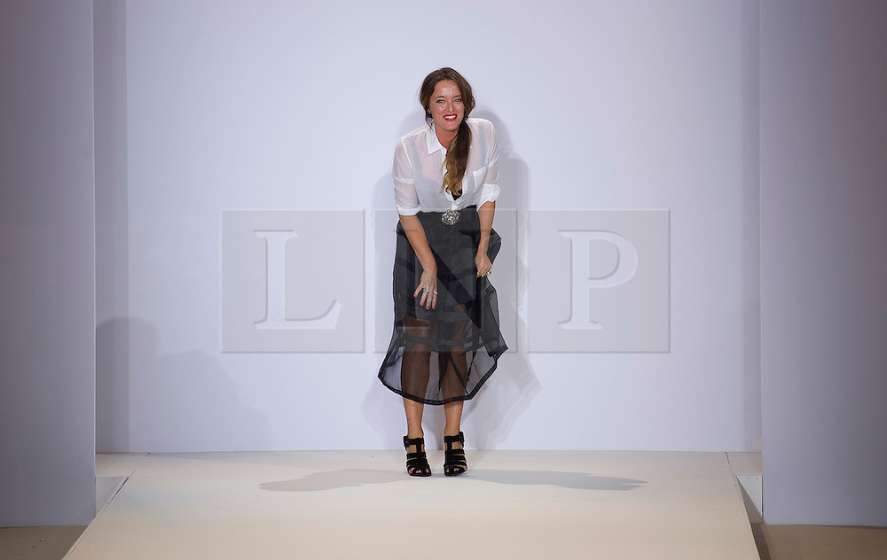 © Licensed to London News Pictures. 16/09/2012. London, UK.  Temperley London catwalk show by designer Alice Temperley (pictured) at London Fashion Week Spring/Summer 2013 on September 16, 2012. Photo credit : Ben Cawthra/LNP