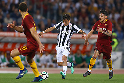 May 13, 2018 - Rome, Italy - Paulo Dybala of Juventus in action during the Italian Serie A football match AS Roma vs Juventus at the Olympic stadium on May 13, 2018 in Rome. (Credit Image: © Matteo Ciambelli/NurPhoto via ZUMA Press)