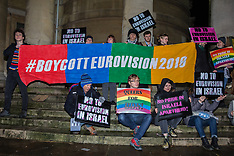 2019-02-08 Love Eurovision Hate Apartheid protest