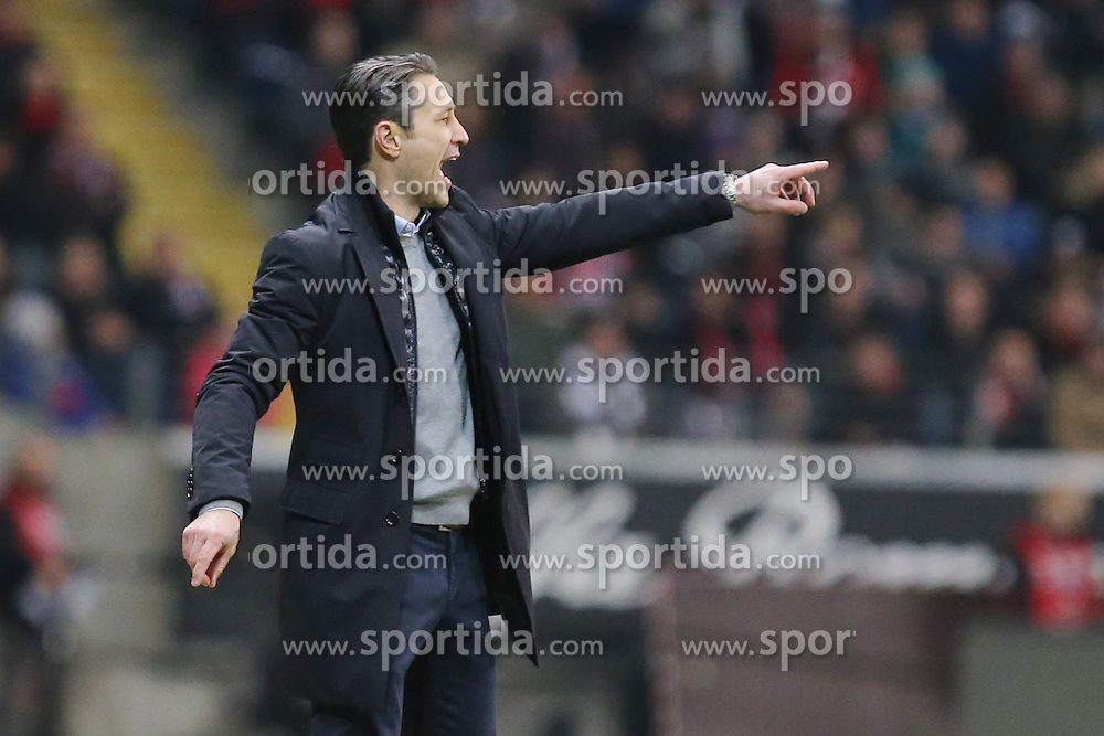 19.03.2016, Commerzbank Arena, Frankfurt, GER, 1. FBL, Eintracht Frankfurt vs Hannover 96, 27. Runde, im Bild Schreiend und gestikulierender Trainer Niko Kovac (Frankfurt) // during the German Bundesliga 27th round match between Eintracht Frankfurt vs Hannover 96 at the Commerzbank Arena in Frankfurt, Germany on 2016/03/19. EXPA Pictures &copy; 2016, PhotoCredit: EXPA/ Eibner-Pressefoto/ Roskaritz<br /> <br /> *****ATTENTION - OUT of GER*****