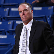 Idaho Stampede Head Coach Dean Cooper seen in the second half of a NBA D-league regular season basketball game between the Delaware 87ers and the Idaho Stampede (Utah Jazz) Tuesday, Feb. 03, 2015 at The Bob Carpenter Sports Convocation Center in Newark, DEL