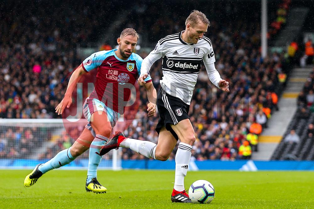 Andre Schurrle of Fulham takes on Charlie Taylor of Burnley - Mandatory by-line: Robbie Stephenson/JMP - 26/08/2018 - FOOTBALL - Craven Cottage - Fulham, England - Fulham v Burnley - Premier League