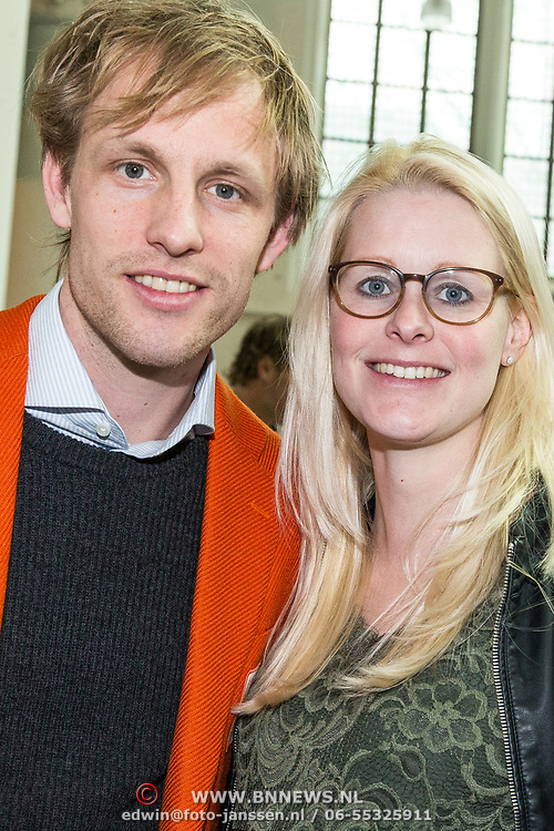 NLD/Den Haag/20180323 - Huldiging Olympische en Paralympische medaillewinnaars, Ronald Mulder met partner Inge Hegeman