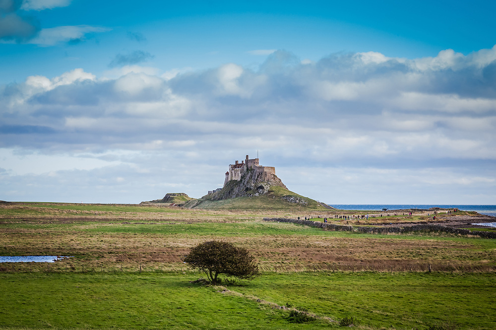 Castle on the Holy Island of Lindisfarne, England