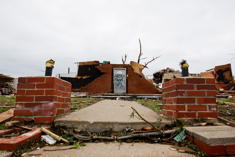 May 24, 2011- The remains of a home in Joplin, Missouri after a Tornado came through the town on Sunday, May 22, 2011. Credit: David Welker / TurfImages.com