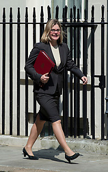 © London News Pictures. 22/05/2011. London, UK.  Justine Greening  Secretary of State for Transport arriving at 10 Downing Street  for a cabinet meeting on May 22, 2012. Photo credit: Ben Cawthra/LNP