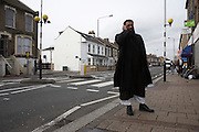 Islamist Anjem Choudary is deputy and main UK spokesman of the radical group al-Muhajiroun stands in the Leytonstone, London..