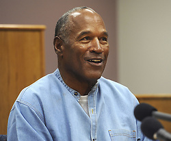 July 20, 2017 - Lovelock, Nevada, U.S - Former NFL football star O.J. Simpson appears via video for his parole hearing at the Lovelock Correctional Center in Lovelock, Nev., on Thursday, July 20, 2017.  Simpson was granted parole Thursday after more than eight years in prison for a Las Vegas hotel heist, successfully making his case in a nationally televised hearing that reflected America's enduring fascination with the former football star. (Credit Image: © Prensa Internacional via ZUMA Wire)